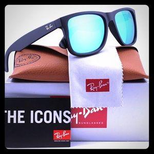Ray Ban Justin 4165 Blue Flash Mirror Sunglasses